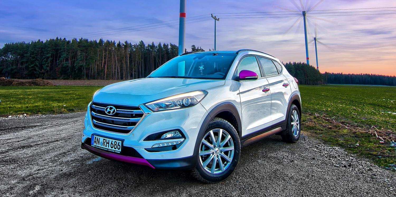 Hyundai Tucson Style blue 2.0 TDI (2017 series)