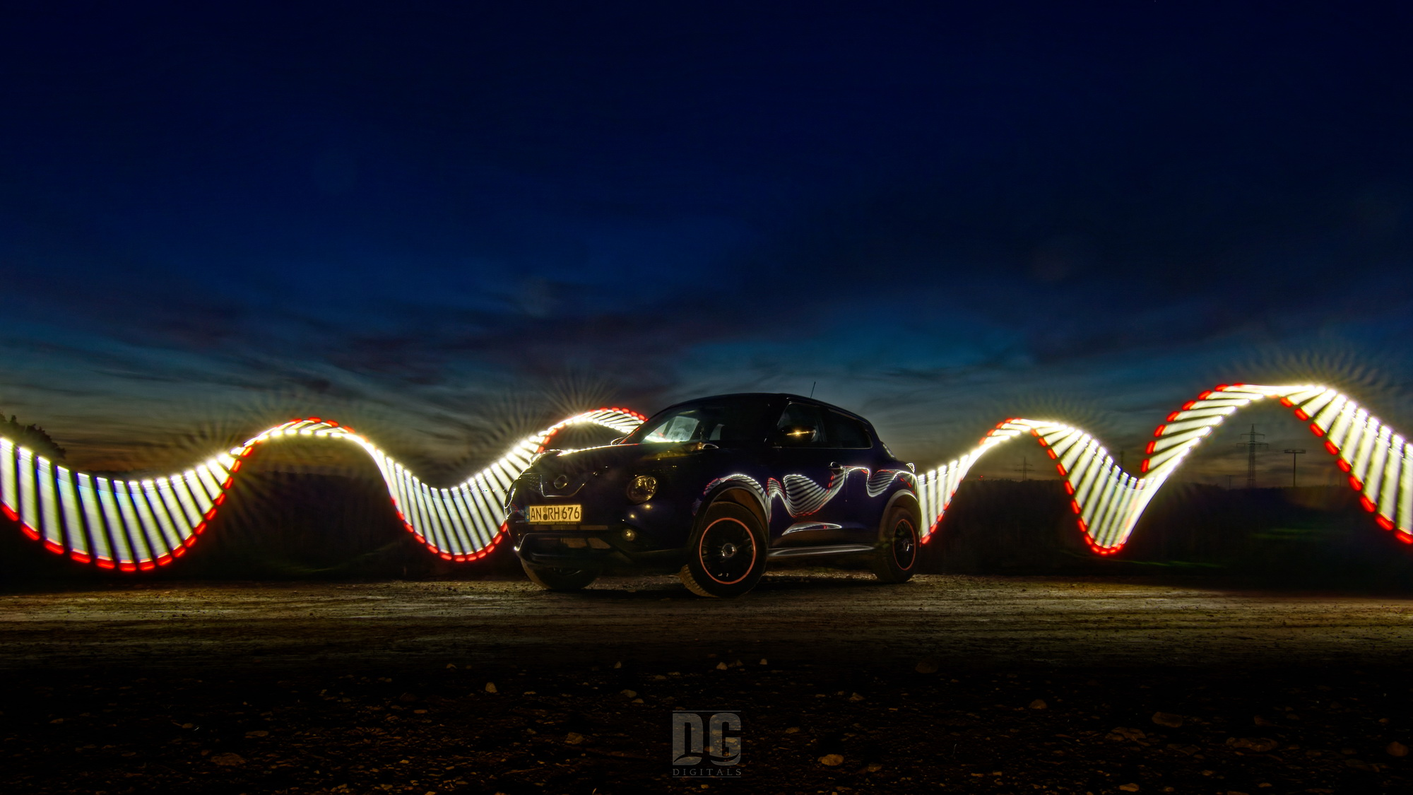 Lightpainting – Nissan Juke 1.5 dCi Tekna (2015 series)